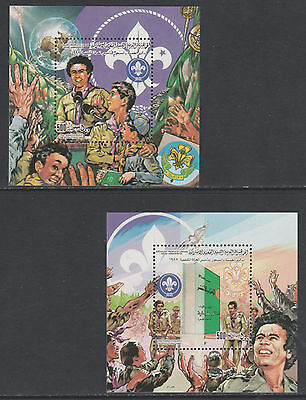 Libya 5005 - 1982 75th ANNIV of SCOUTING set of 2 m/sheets  unmounted mint