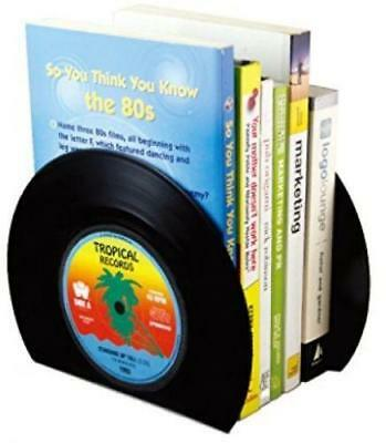 2Pcs Trimmed Vinyl Record Bookends - Unique Vintage Gift New C