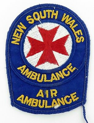 SCARCE / OBSOLETE NSW AMBULANCE AIR AMBULANCE PATCH. 9.4cms HIGH.