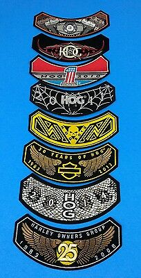 New Collectible Lot of 8 Harley Davidson 2009-2014 HOG Patches Plus 25 Year