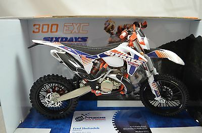 1:12 KTM 300 EXC - 6 Days FINLAND Bike Motorcycle Diecast model