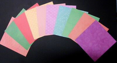 """DCWV Double Sided  PATTERNED Cardstock - 15cm x 15cm (6""""x 6"""") Scrapbooking/Cards"""