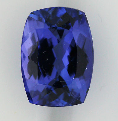 7.99ct!! NATURAL TANZANITE EXPERTLY FACETED IN GERMANY +CERTIFICATE INCLUDED