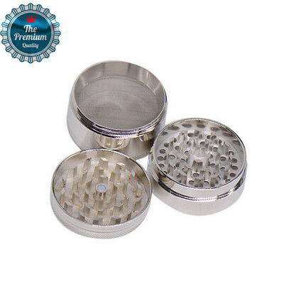 4 Layer Metal Tobacco Crusher Hand Muller Smoke Herbal Herb Spice Grinder Silver