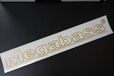 Megabass CUTTING STICKER Frame 40cm #GOLD