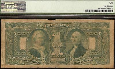 1896 $1 DOLLAR BILL EDUCATIONAL NOTE LARGE SILVER CERTIFICATE BETTER Fr 225 PMG