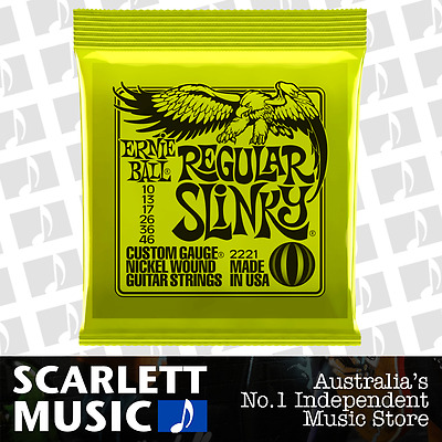 Ernie Ball 2221 Regular Slinky 10-46 Electric Guitar Strings *BRAND NEW*