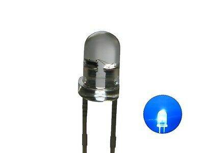 S127 - 20 Piece Flickering LEDs 3mm Blue Clear Flickering with Control
