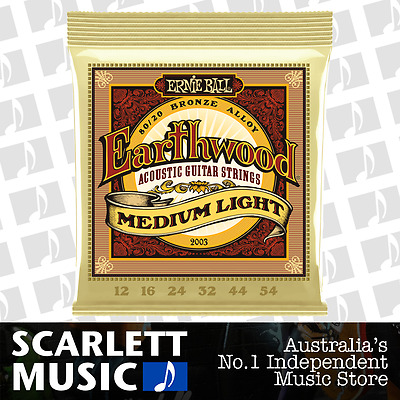 Ernie Ball 2003 Earthwood 80/20 12-54 Medium Light Acoustic Strings *BRAND NEW*