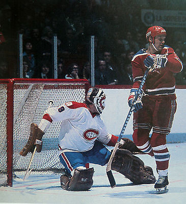 Key Dryden Goalie Montreal Canadiens 1975 Vs Russia  Hockey Color Photo D2