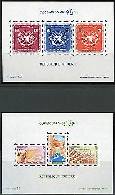 Cambodia Lot Of Four  Souvenir Sheets Mint Never Hinged
