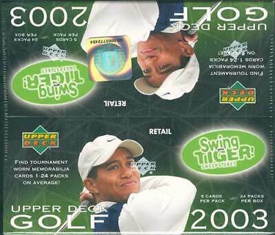 2003 Upper Deck Golf Retail 20 Box Case Blowout Cards