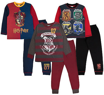 Boys Girls Harry Potter Pyjamas Quidditch Hogwarts House Teams Long Pjs Kids
