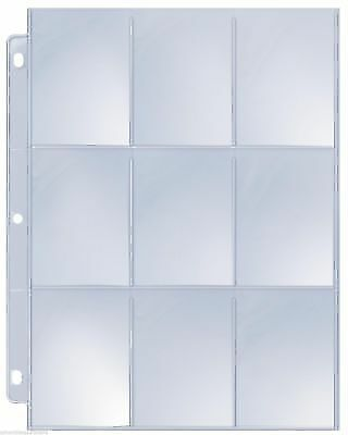 Box 100 Ultra Max Pro 9-Pocket Baseball Card Album Pages / Coupon Binder Sheets