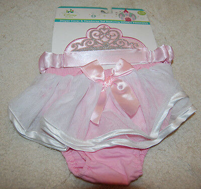 DISNEY Princess CINDERELLA  Diaper Cover / Crown Halloween Costume 0-12 Mos.NEW
