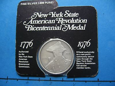 New York American Revolution Bicentennial 999 Silver Coin Very Rare Sealed