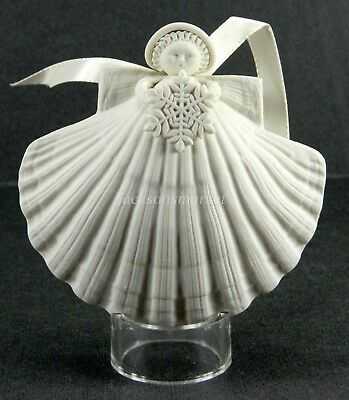 Margaret Furlong Snowflake Angel Ornament 1989 A2-SF Porcelain in Box, Stand 4""