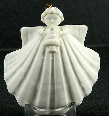 Margaret Furlong Christmas Tree Angel Ornament 1990 Bisque Porcelain in Box 3""