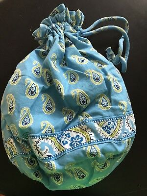 Vera Bradley ditty bag in Retired 2007   Bermuda Blue pattern