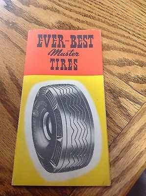 1930's - 40's Ever-Best Master Tires Brochure,NOS