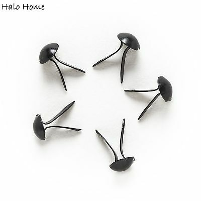 100/500 Pcs Black Round Metal Fastener Brads Embellishment  Scrapbooking 9x5mm