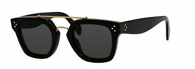 New Celine CL 41077S 807/BN Black Sunglasses