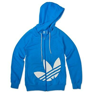 ADIDAS ORIGINALS TREFOIL Femme Sweat à Capuche Active Red