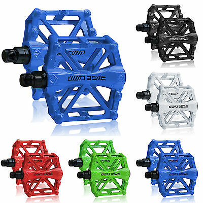 Road Mountain Bike Bicycle Platform Pedals Flat Aluminum Alloy Sealed Bearing