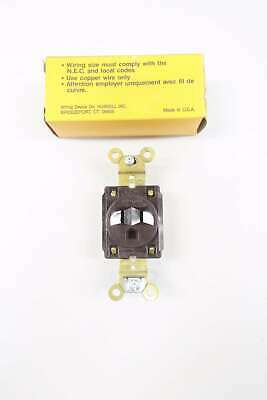 Hubbell HBL5261CN 125v-ac 15a Amp 3w 2p Receptacle