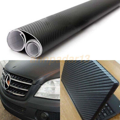 Carbon Fiber Vinyl Car Auto 3D 4D 5D 6D DIY Wrap Sheet Roll Film Sticker Decal