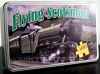 Flying Scotsman 500 piece jigsaw puzzle in a tin      420mm x 297mm (rf)