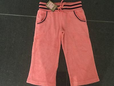 NWT Juicy Couture New & Gen. Peach Cotton Crop Leg Tracksuit Pants Girls Age 8