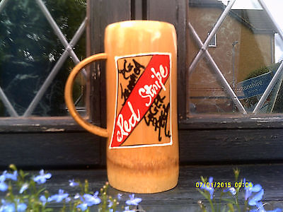 LARGE ,Jamaica ,Hand Carved BAMBOO, BEER/LAGER Tankard........