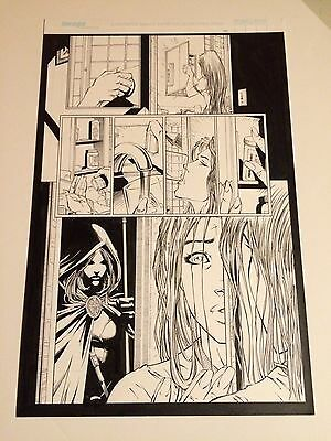 WITCHBLADE original art POPS PILLS, MOODY HALF SPLASH, IMAGE, GREAT PAGE