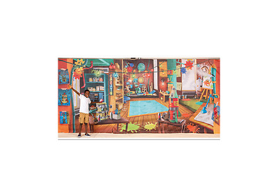 Maker Fun Factory VBS Fabric Wall Hanging (set of 3 panels, total of 8' x 18').