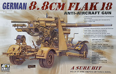 AFV Club German 8.8cm Flak 18 Anti-Aircraft Gun 1:35 Bausatz Kit Art. AF 35088
