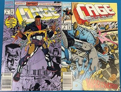 CAGE lot of (10) issues #1-2-5-6-7-8-9-10-11-12  (1992/1993) Marvel Comics VF