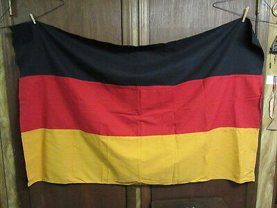 Germany Cloth Flag  approx. 55 by 36      AA