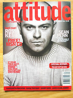 ATTITUDE MAGAZINE No. 28 - AUGUST 1996  ROSS KEMP COVER N/MINT
