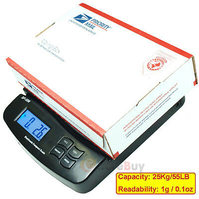 New 55LB 0.1OZ Digital Postal Shipping Scale V2 Weight Postage Kitchen Counting