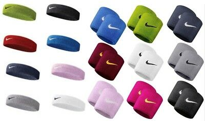 Nike Swoosh Headband Tennis Football Sport Gym Sweat Stretch Sporting Wrist Band