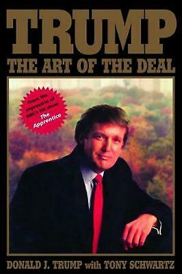 Trump: The Art of the Deal by Tony Schwartz Hardcover Book Free Shipping!