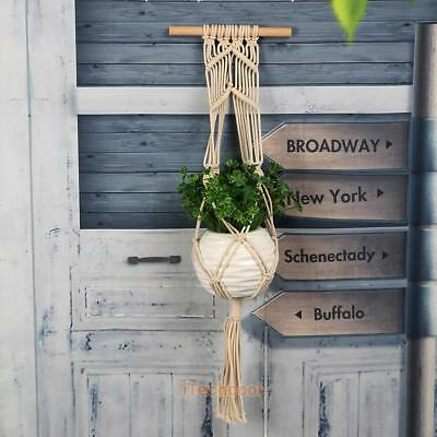 Macrame Plant Hanger Hanging Pot Holder Planter Basket Jute Lifting Rope Craft