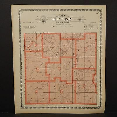 Iowa Winneshiek County Map Bluffton Township 1905  K14#88