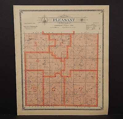 Iowa Winneshiek County Map Pleasant Township 1905  K14#96