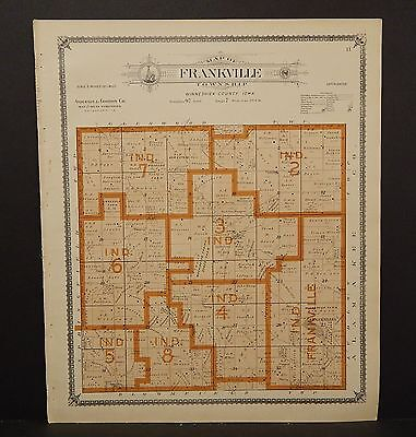 Iowa Winneshiek County Map Frankville Township 1905  K14#98