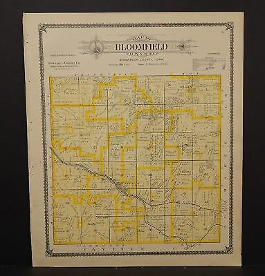 Iowa Winneshiek County Map Bloomfield Township 1905  K14#99