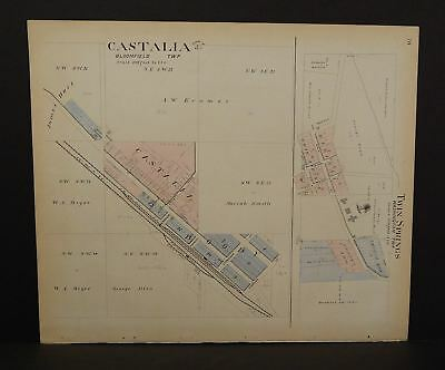 Iowa Winneshiek County Map Fort Atkinson 1905 Double Sided  K14#77