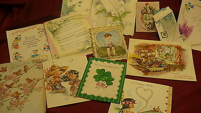 Greeting postcard lot 120 Christmas Valentines Easter Get well St Patrick #155