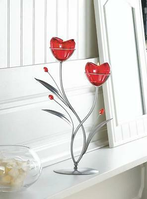 red heart love tea-light metal candelabra Candle Holder wedding table decoration